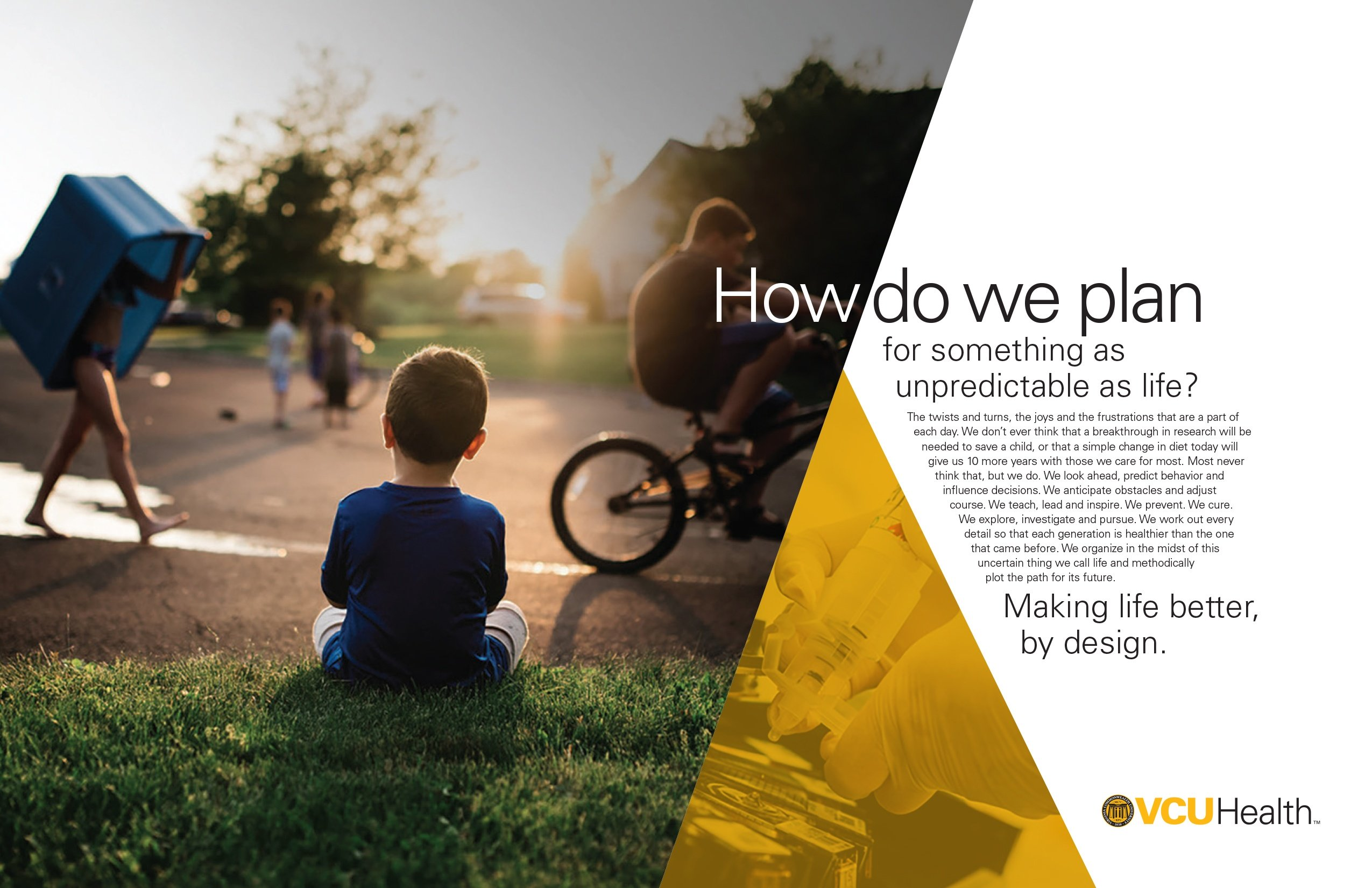 VCU Health - How do we plan - print ad
